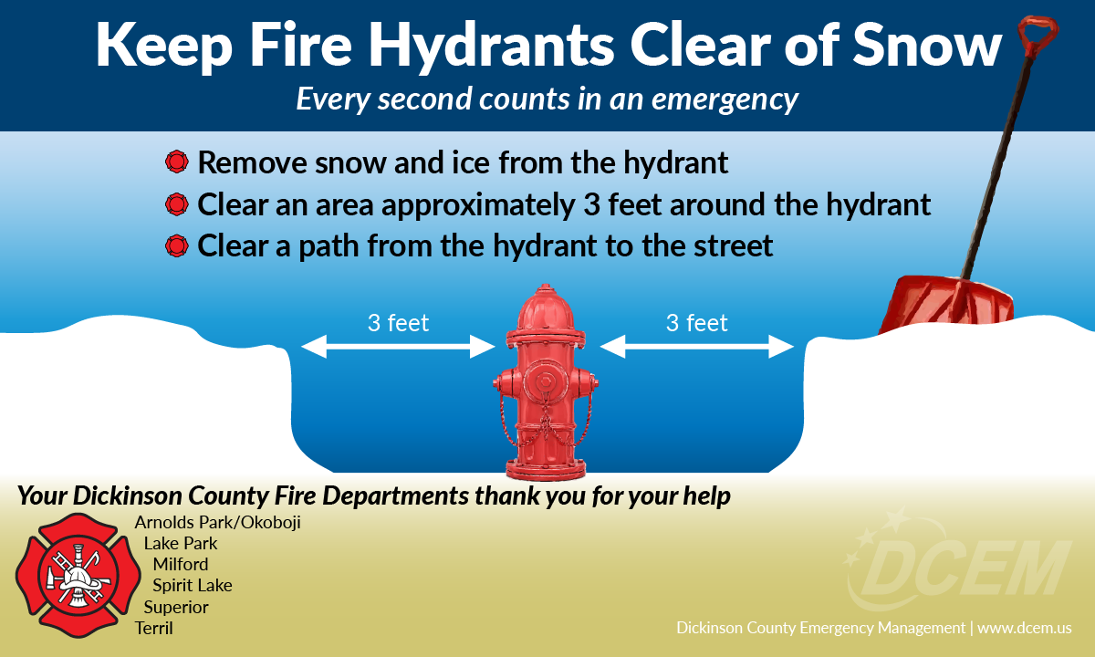Keep Fire Hydrants Clear Of Snow